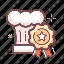award, best, chef, kitchen icon