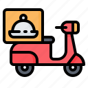 bike, delivery, food, motorbike, motorcycle, scooter, take away icon