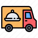 cargo, cloche, delivery, food, shipping, transportation, truck icon