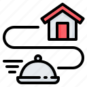 food, map, shipping, delivery, route, tracking, track icon