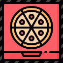 box, delivery, fast, food, italian, junk, pizza icon