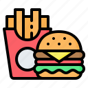 burger, fast, food, french fries, hamburger, junk, sandwich icon