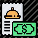 bill, food, invoice, money, payment, receipt, restaurant