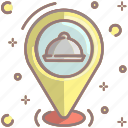 location, takeaway, food delivery, find, navigation, pin, restaurant