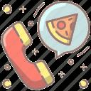 phone, order, pizza, call, food, restaurant