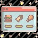 order, website, food, restaurant, delivery, burger, burrito