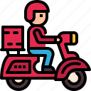 guy, scooter, man, food, delivery, work from home, food delivery