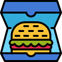 burger, box, hamburger, food, delivery, work from home, food delivery