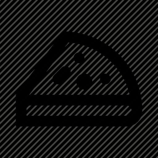 bakery, fast food, food, pie, pizza, slice icon