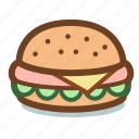beef, burger, cheeseburger, fast, food, hamburger icon