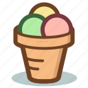 cone, cream, dessert, ice icon