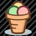 cone, cream, dessert, ice