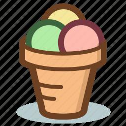 cone, cream, dessert, ice icon