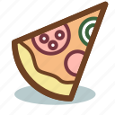 food, italian, pizza, restaurant, slice icon