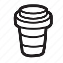 coffee, cup, disposable, drink, hot icon