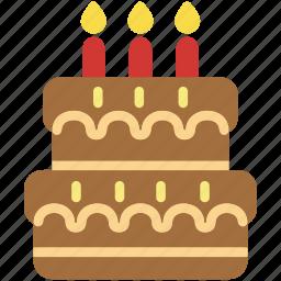 cake, celebration, dessert, food, party, sweet icon