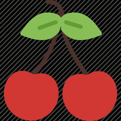 berries, cherry, dessert, food, fruit, sweet icon