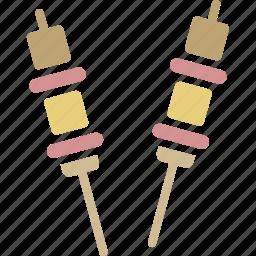 bbq, satay, sausage icon