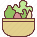 healthy, salad, vegetables icon