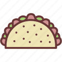 taco, tacos, tortilla icon