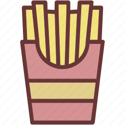 fastfood, french fries, frenchfries, fries icon