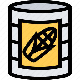 barbecue, canned, cooking, corn, drink, food, kitchen icon
