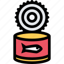 barbecue, canned, cooking, drink, fish, food, kitchen icon