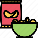 barbecue, chips, cooking, drink, food, kitchen icon