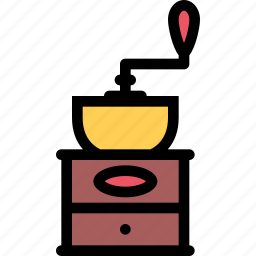 barbecue, coffee, cooking, drink, food, kitchen, mill icon