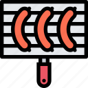 barbecue, cooking, drink, food, kitchen, sausage icon