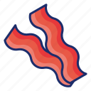 bacon, bacon strips, meat icon