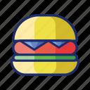 burger, cheeseburger, hamburger