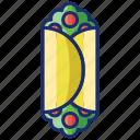 burrito, salad, vegetable wrap, wrap icon