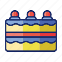 berry cake, blueberry cheesecake, cake icon