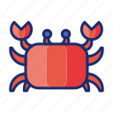 cancer, crab, seafood icon