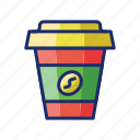 coffee, coffee to go, cup, takeaway cup icon