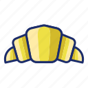 bread, croissant, pastry icon