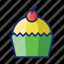 cupcake, dessert, muffin icon