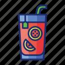 grapefruit, ice lemon tea, juice, lemon tea, lemonade icon