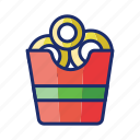 fried, onion, ring icon