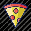 italian, pizza, slice icon