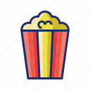 movies, popcorn, snack icon