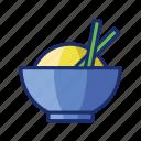 bowl, rice, rice bowl icon