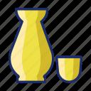 alcohol, rice, sake, wine icon