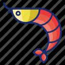 prawn, seafood, shrimp icon