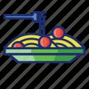 bolognese, pasta, spaghetti icon