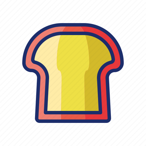 bread, slice, toast icon