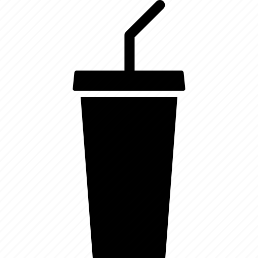 beverage, cup, drink, soda, soft, softdrink, straw icon