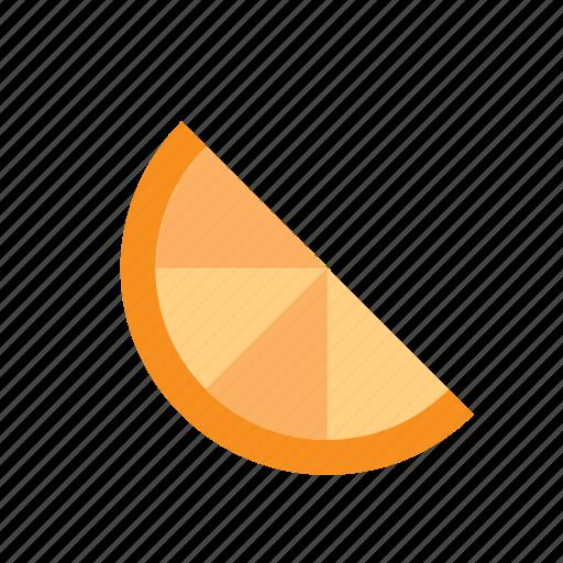 food, fruit, half, orange, slice icon
