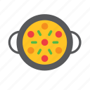 dish, food, paella, rice icon
